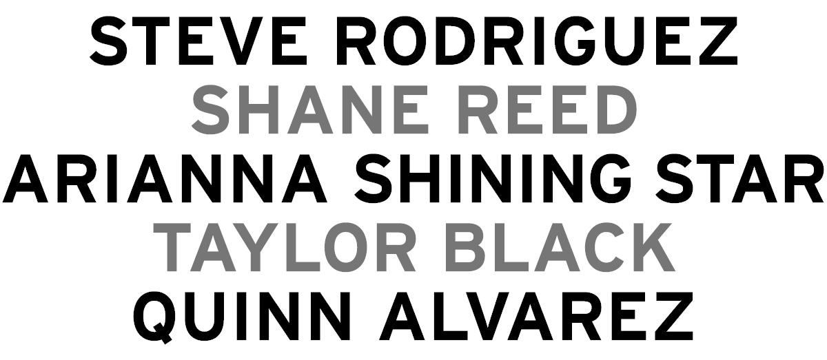 Apache Colorists - Shane Reed, Steve Rodriguez, Arianna Shining Star, Taylor Black, and Quinn Alvarez